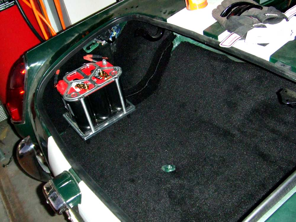 The Mite Customizing A 1965 Sprite Part 49 Trunk Carpet