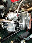 Custom water lines IHI RHB5 turbo miata engine