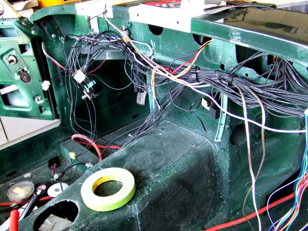 wiring under the dash of the sprite